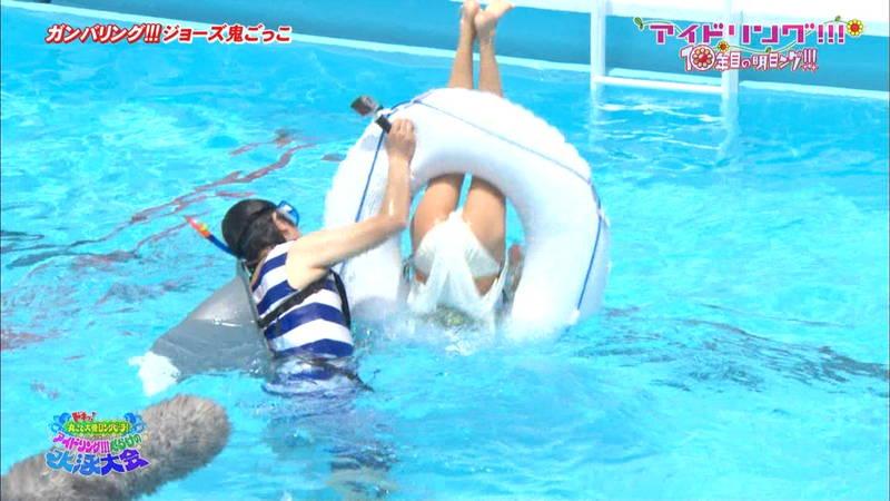 【大川藍キャプ画像】アイドリングの水泳大会で一番目立ってた大川藍の巨乳www 10
