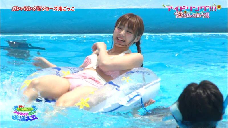 【大川藍キャプ画像】アイドリングの水泳大会で一番目立ってた大川藍の巨乳www 16
