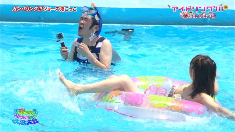 【大川藍キャプ画像】アイドリングの水泳大会で一番目立ってた大川藍の巨乳www 20