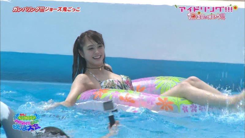 【大川藍キャプ画像】アイドリングの水泳大会で一番目立ってた大川藍の巨乳www 21