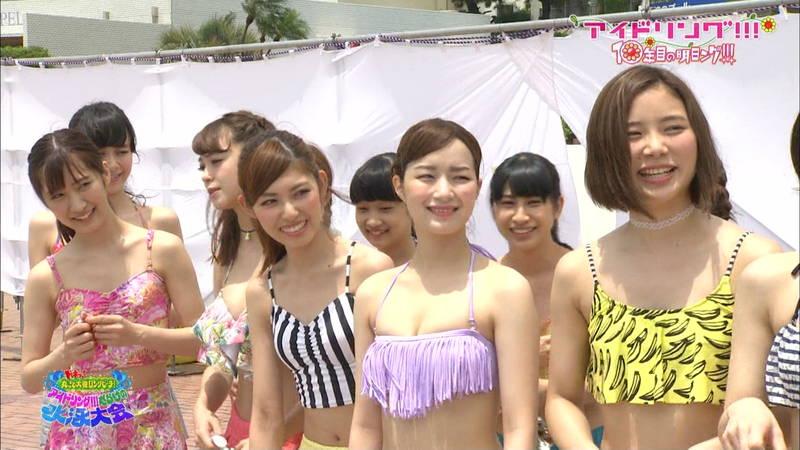 【大川藍キャプ画像】アイドリングの水泳大会で一番目立ってた大川藍の巨乳www 23