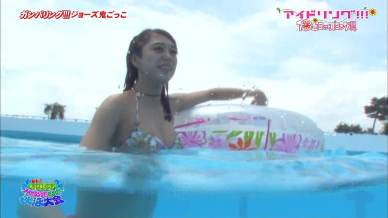 【大川藍キャプ画像】アイドリングの水泳大会で一番目立ってた大川藍の巨乳www 24