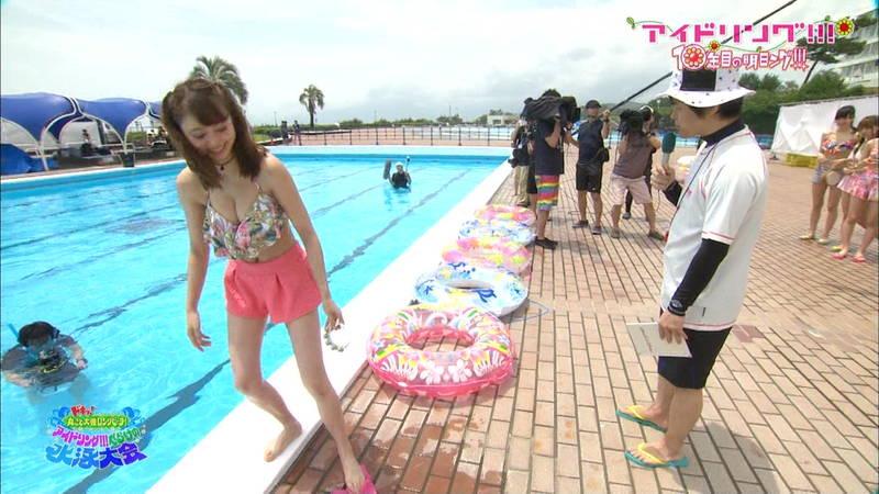 【大川藍キャプ画像】アイドリングの水泳大会で一番目立ってた大川藍の巨乳www 29