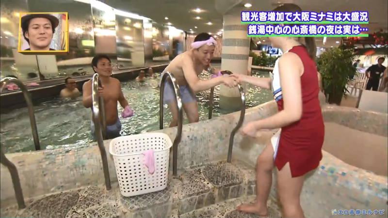 【サウナキャプ画像】大阪のサウナの男湯をレポートすることになったコスプレ女子www 13