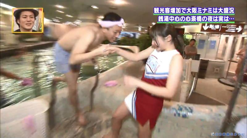 【サウナキャプ画像】大阪のサウナの男湯をレポートすることになったコスプレ女子www 14