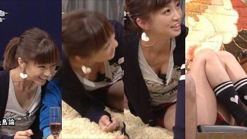 【巨乳キャプ画像】立派なおっぱいがあとちょっとで乳首まで見えそうなのに!!! 15