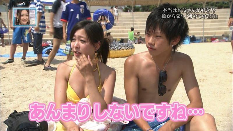 【素人キャプ画像】関西の海水浴場のインタビューで爆乳ばかりが映るという奇跡www 04