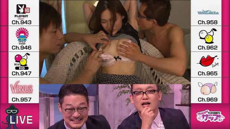 テレビタレントが番組中に乳首チラリ!?