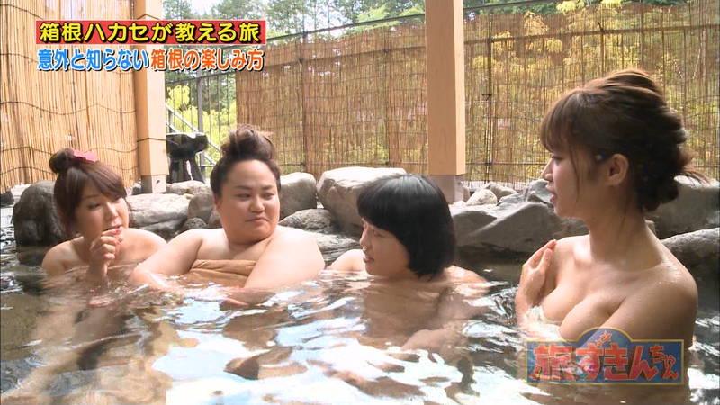 【菜乃花キャプ画像】女芸人と一緒に入浴する菜乃花のおっぱいの貫禄が半端ないwww 05