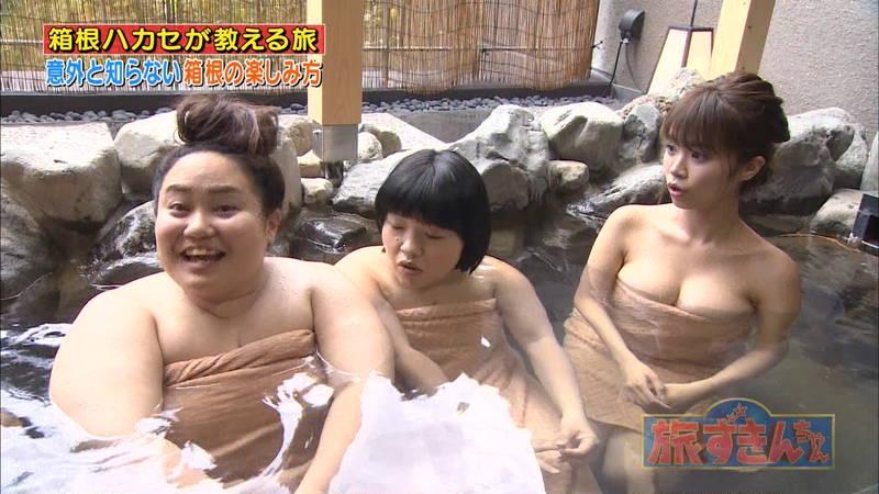 【菜乃花キャプ画像】女芸人と一緒に入浴する菜乃花のおっぱいの貫禄が半端ないwww 08