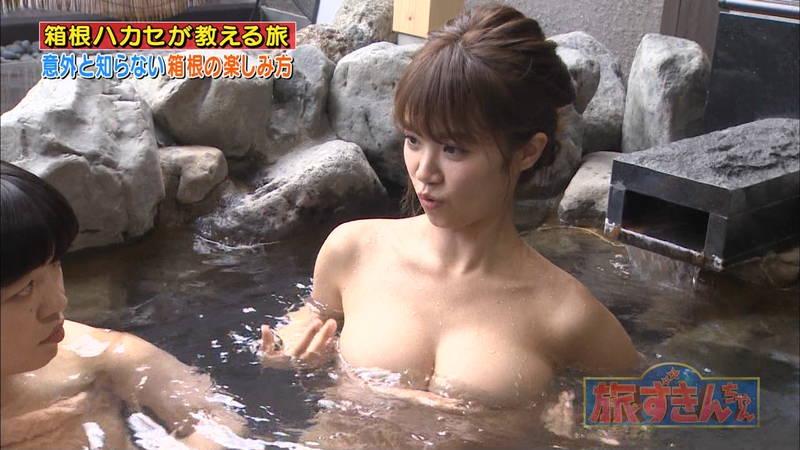 【菜乃花キャプ画像】女芸人と一緒に入浴する菜乃花のおっぱいの貫禄が半端ないwww 15