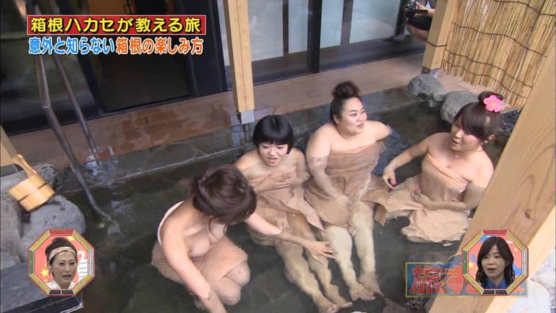 【菜乃花キャプ画像】女芸人と一緒に入浴する菜乃花のおっぱいの貫禄が半端ないwww 29