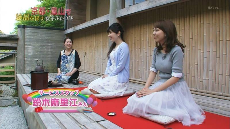【神谷ゆう子キャプ画像】嵐山のロケで着衣巨乳の主張が激しすぎた神谷ゆう子www