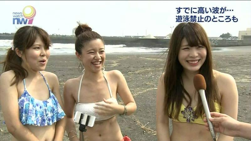 【素人キャプ画像】夏になるとテレビでも素人さんの水着姿で見れていいよねwww 06
