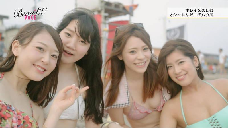 【素人キャプ画像】夏になるとテレビでも素人さんの水着姿で見れていいよねwww 11