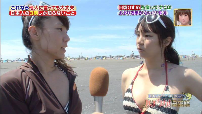 【素人キャプ画像】夏になるとテレビでも素人さんの水着姿で見れていいよねwww 23