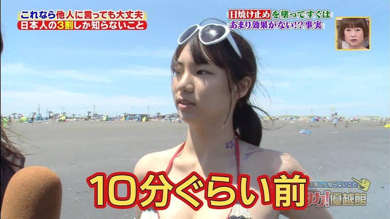 【素人キャプ画像】夏になるとテレビでも素人さんの水着姿で見れていいよねwww 30
