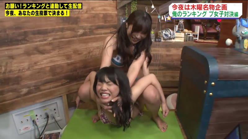 【キャットファイトキャプ画像】石川あんなと葉月佐和がビキニとチャイナドレスで戦うwww 14