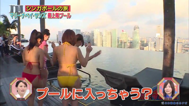【爆乳キャプ画像】和地つかさと天木じゅんの爆乳コンビがシンガポールの例のプールに!w 05