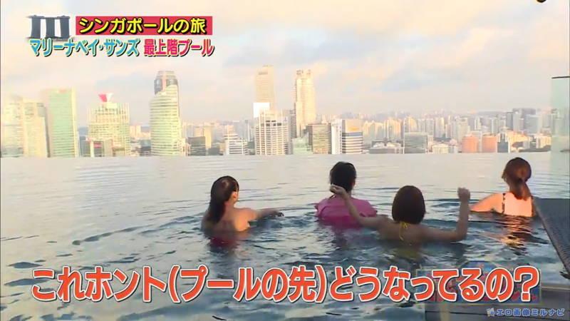 【爆乳キャプ画像】和地つかさと天木じゅんの爆乳コンビがシンガポールの例のプールに!w 08