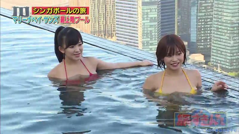 【爆乳キャプ画像】和地つかさと天木じゅんの爆乳コンビがシンガポールの例のプールに!w 10