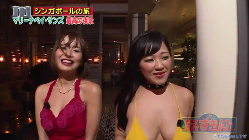 【爆乳キャプ画像】和地つかさと天木じゅんの爆乳コンビがシンガポールの例のプールに!w 18
