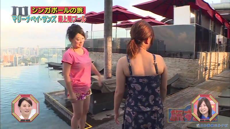 【爆乳キャプ画像】和地つかさと天木じゅんの爆乳コンビがシンガポールの例のプールに!w 24