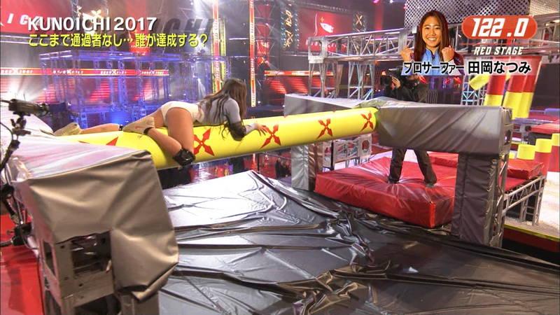 【SASUKEキャプ画像】女性がSASUKEをやるとエロいことになるだけだと判明www 03