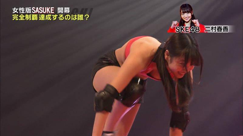 【SASUKEキャプ画像】女性がSASUKEをやるとエロいことになるだけだと判明www 30