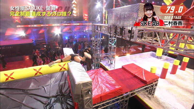 【SASUKEキャプ画像】女性がSASUKEをやるとエロいことになるだけだと判明www 32