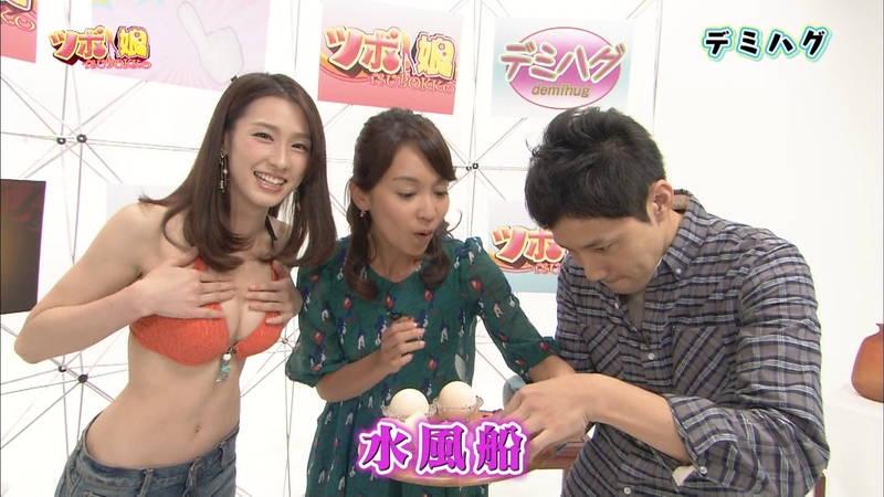 【藤田可菜キャプ画像】ホットパンツ+ビキニトップのおっぱいがすごい藤田可菜www 22