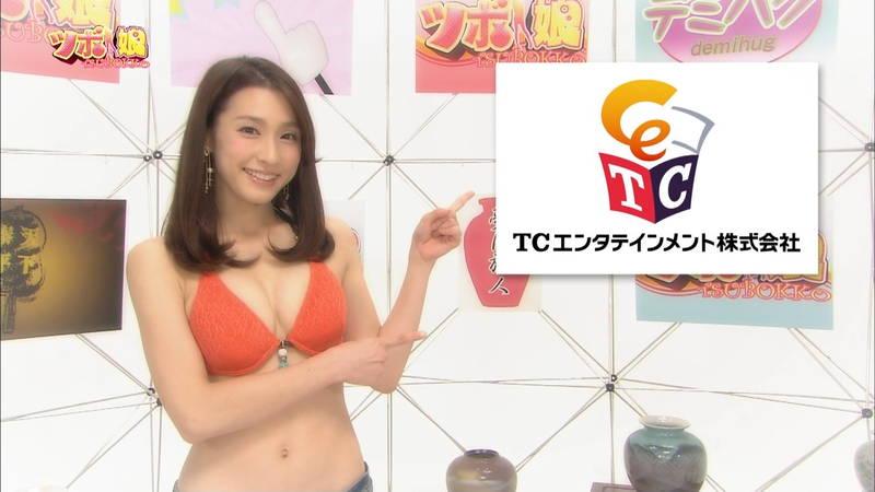 【藤田可菜キャプ画像】ホットパンツ+ビキニトップのおっぱいがすごい藤田可菜www 27