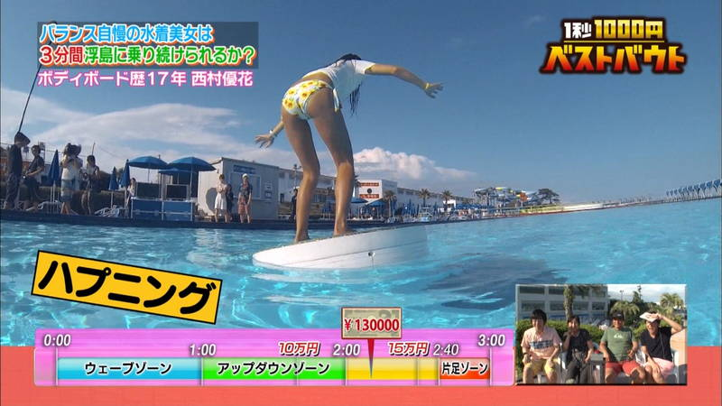 【ギャルキャプ画像】こんがり日焼けしたギャルが水上でバランス対決した結果www 26