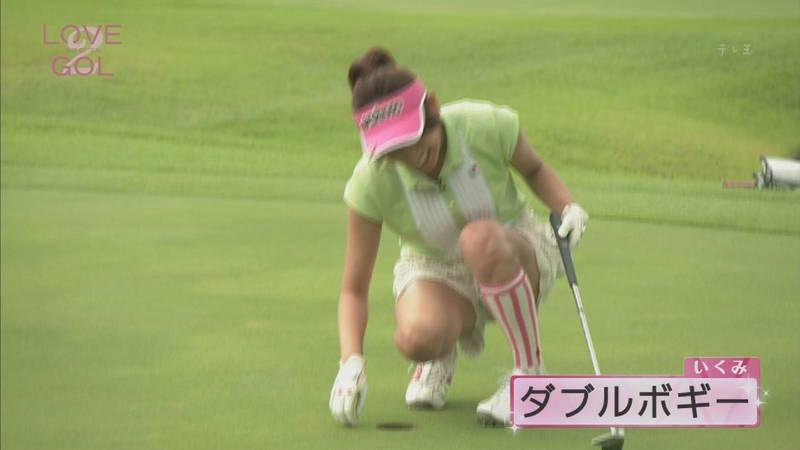 【久松郁実キャプ画像】久松郁実が普通にゴルフしているだけなのに胸が高鳴る!