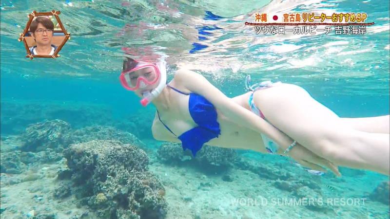 【木寺莉菜キャプ画像】超キレイな海を緩くレポートする木寺莉菜がいいwww