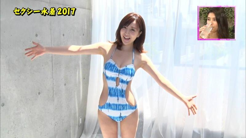 【竹内渉キャプ画像】エロ水着を紹介するコーナーでもV字水着は普通に着れなかったwww