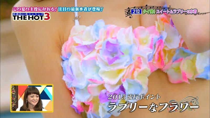 【水着キャプ画像】最新のトレンド水着を紹介するコーナーのアングルがエロいwww 03