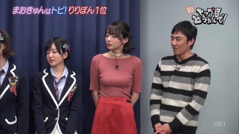 【岡田紗佳キャプ画像】何を着ていても着衣おっぱいが気になる岡田紗佳は巨乳なのか?