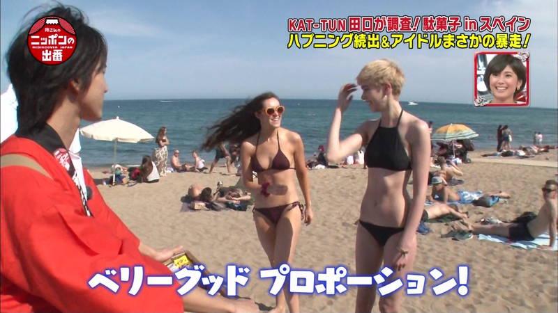 【外国人キャプ画像】スペインのビーチには年齢不詳の巨乳素人さんがたくさんwww 03