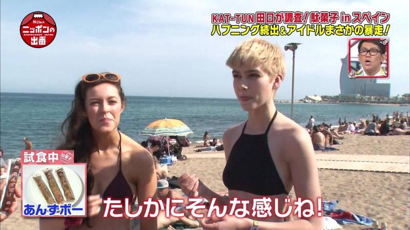 【外国人キャプ画像】スペインのビーチには年齢不詳の巨乳素人さんがたくさんwww 07