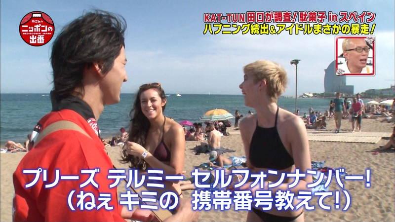 【外国人キャプ画像】スペインのビーチには年齢不詳の巨乳素人さんがたくさんwww 09