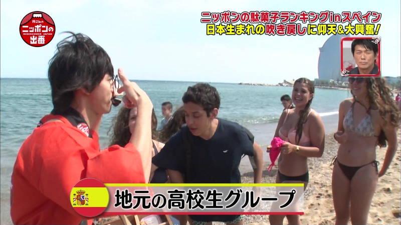 【外国人キャプ画像】スペインのビーチには年齢不詳の巨乳素人さんがたくさんwww 16