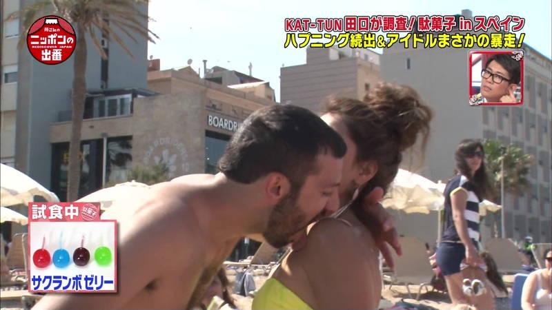 【外国人キャプ画像】スペインのビーチには年齢不詳の巨乳素人さんがたくさんwww 28