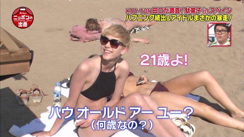 【外国人キャプ画像】スペインのビーチには年齢不詳の巨乳素人さんがたくさんwww 29