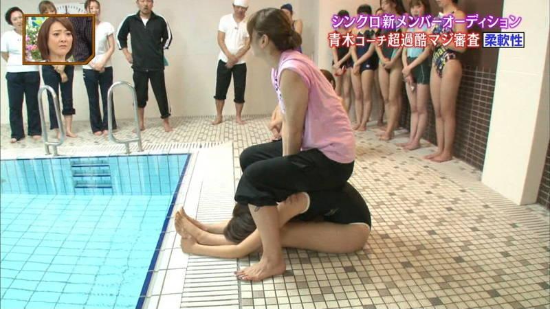 【競泳水着キャプ画像】競泳水着でエロいことばかりさせられるアイドルたちwww 11