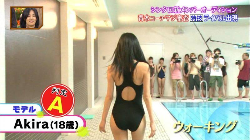 【競泳水着キャプ画像】競泳水着でエロいことばかりさせられるアイドルたちwww 25