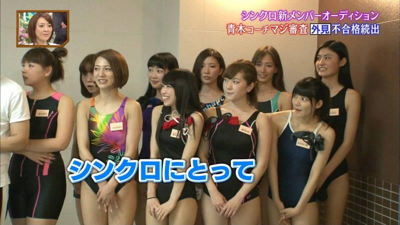 【競泳水着キャプ画像】競泳水着でエロいことばかりさせられるアイドルたちwww 26