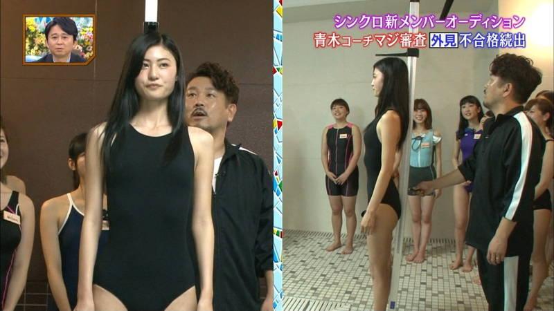 【競泳水着キャプ画像】競泳水着でエロいことばかりさせられるアイドルたちwww 27