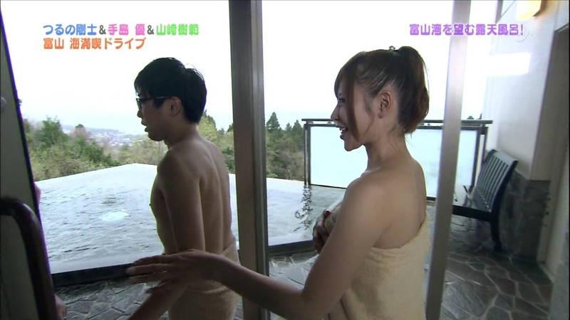 【手嶋優キャプ画像】温泉に入浴している手嶋優が悔しいけど抜けるwww 07