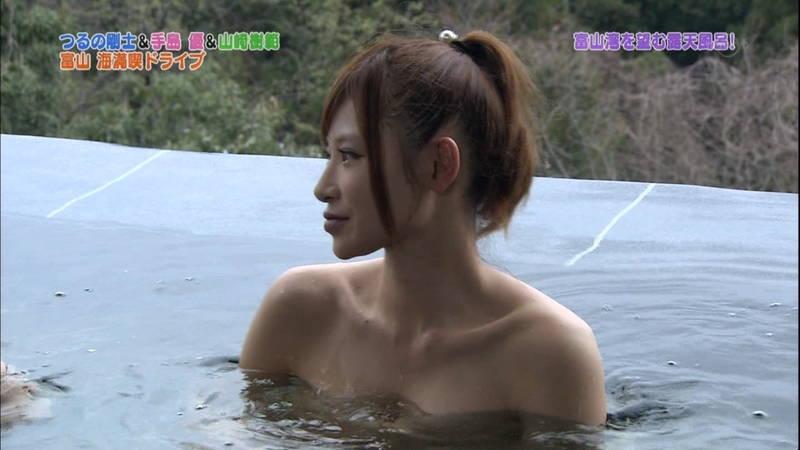 【手嶋優キャプ画像】温泉に入浴している手嶋優が悔しいけど抜けるwww 18